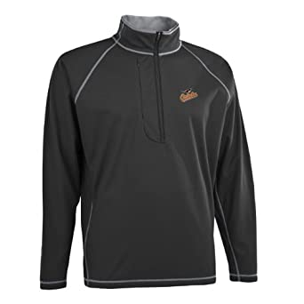 MLB Mens Baltimore Orioles Shadow 1 2 Zip Pullover by Antigua