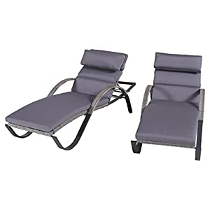 Rst brands cannes chaise lounges with for Amazon chaise longue