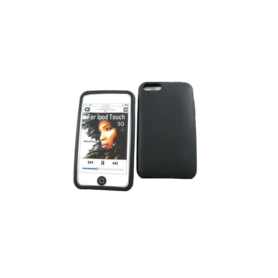 mobile palace  Black silicone case cover pouch holster for Apple ipod touch 2