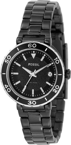 Fossil Round Black Ladies Watch AM4280 Wrist Watch (Wristwatch)