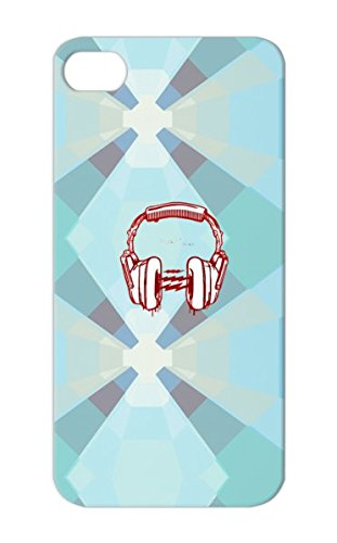 Headphones Symbols Shapes Tobago Metrofit Design Clothing Trinidad White Beats Cover Case For Iphone 5
