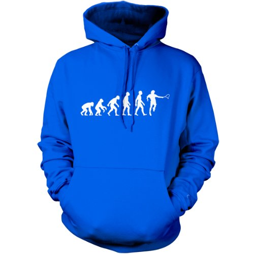 Evolution of Man - Unisex Tennis Hoodie - Dressdown - Blue - XL