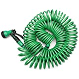 Generic EVA 25M Garden Coiled Water Hose Pipe With Nozzle Washing Car
