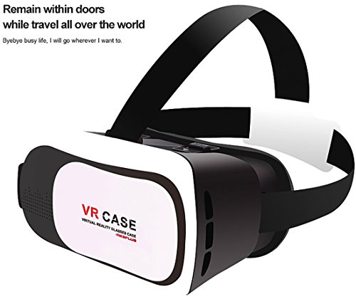 Newest Virtual Reality VR Case 3th 3D Glasses Perfect Match With 3.5 To 6.0 Inch Smartphone For 3D Games Videos 360 Degree Vision Immersive Experience