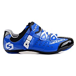 Smartodoors SIKEBIKE Women\'s and Men\'s W All-Road and MTB II Cycling Shoes SD-001 (Blue Road, US11/EU44/Ft27.5cm)