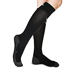 Graduated Compression Socks for Men Women- For Running, Maternity Pregnancy, Swollen Legs, Feet, DVT, Air Flight, Diabetic, Arthritis, Athletic Pain, Calf Shin Splints, Plantar Fasciitis, Leg Support