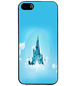 PrintDhaba Flying Castle D-2313 Back Case Cover for APPLE IPHONE 5 (Multi-Coloured)