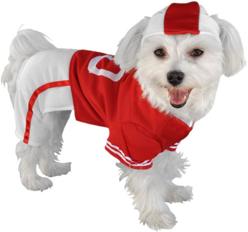 Pet Football Player Red Uniform Dog Costume XS