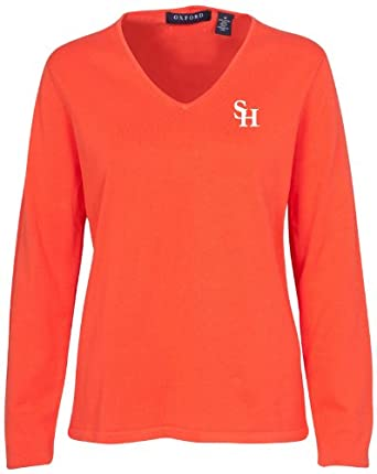 Oxford NCAA Sam Houston State Bearkats Ladies Carson V-Neck Sweater by Oxford