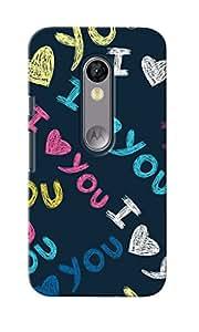 CimaCase I Love You Designer 3D Printed Case Cover For Motorola Moto G Turbo Edition