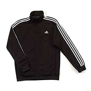 adidas Men's Athletics Essential Track Jacket, Black/Collegiate Navy, 3X-Large