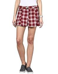 Upperclass Women's Skirt (8903862957005_Red_26)