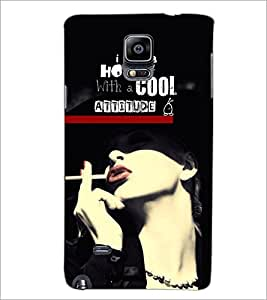 PrintDhaba Quote D-6100 Back Case Cover for SAMSUNG GALAXY NOTE 2 (Multi-Coloured)