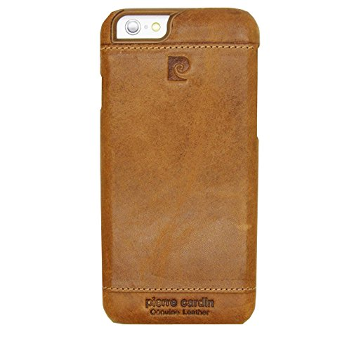 buy online b3678 55e7e Pierre Cardin Leather Back Cover Case Shell Cover for Apple iPhone 5  5S-brown