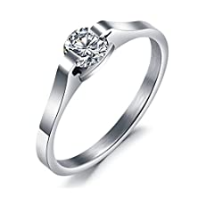 buy Bbx Jewelry Women'S Rings Stainless Steel White Zircon Wedding Band And Engagement Rings.Size 6 7 8