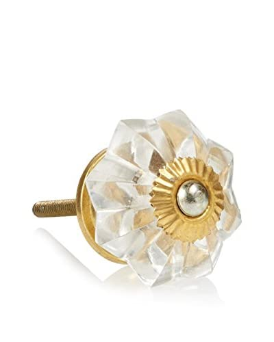 A. Sanoma Inc. Glass Flower Knob, Clear