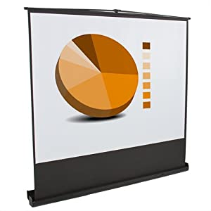 "100"" Portable Pull up 4:3 Floor Screen Aluminium Structure Projector Projection"