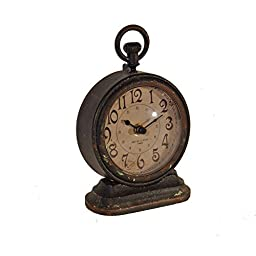 American Mercantile Decorative Metal Vintage Table Clock