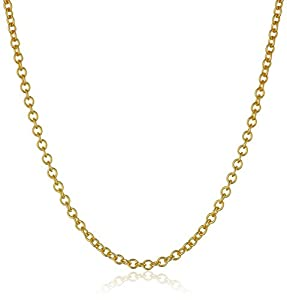 """14K Yellow Gold 1.5mm Italian Rolo Chain Necklace, 20"""""""