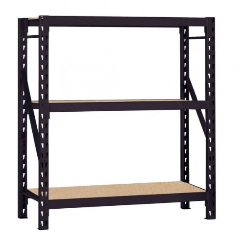 Edsal ERZ601866PB3 Muscle Rack Heavy Duty Steel Bulk Storage Rack with 3 Shelf, 1200 lbs Shelf Capacity, 60