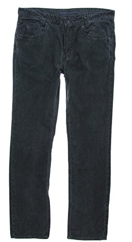 GUESS Men's Jackson Corduroy Pants-Jet Black-32/34