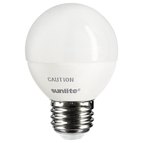 Sunlite G16/LED/7W/D/FR/27K LED 60 Watt Equivalent G16 Globe Light Bulb Medium  Base Frost Dimmable 2700K Warm White