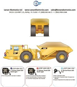 Led Light Package For Caterpillar Ad30 Dump Truck - Led Retrofit/Fitout - (8) Ledp10W-50E (3) Ledp10