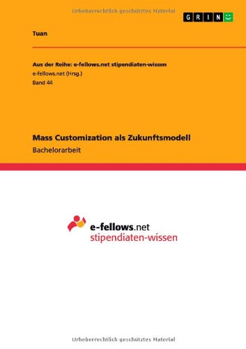 Mass Customization ALS Zukunftsmodell (German Edition) (Mass Career Customization compare prices)