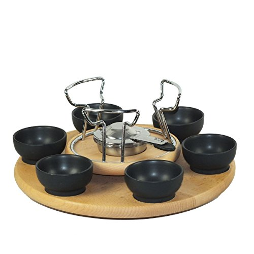 kela fondue set edelstahl buche natura k chenausstattung k chenzubeh r shop. Black Bedroom Furniture Sets. Home Design Ideas