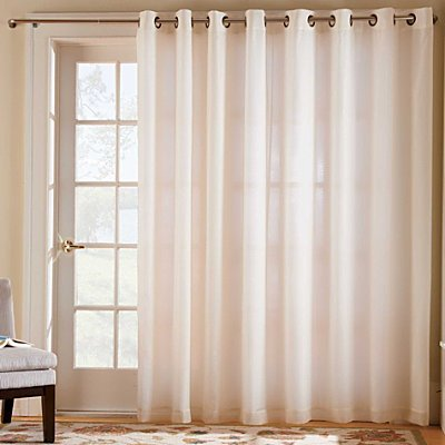 Cheap Thermavoile Grommet Top Curtain Two 54 X63 Panels