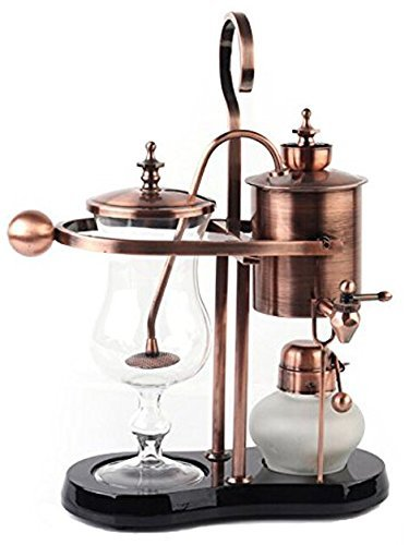 Diguo Belgian Belgium Luxury Royal Family Balance Syphon Coffee Maker Elegant Design Retro-Style(Rose Gold) (Royal Siphon Coffee Maker compare prices)