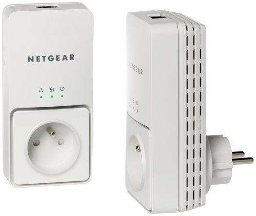 NETGEAR - XAVB1501-100FRS - PACK DE 2 ADAPTATEURS CPL ETHERNET POWERLINE 200 MBIT/S AVEC PRISE FE...