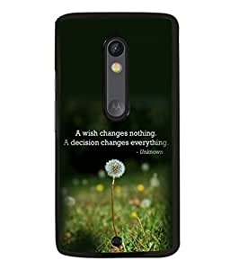 printtech Cool Quotes Life Back Case Cover for Moto X Pure Edition