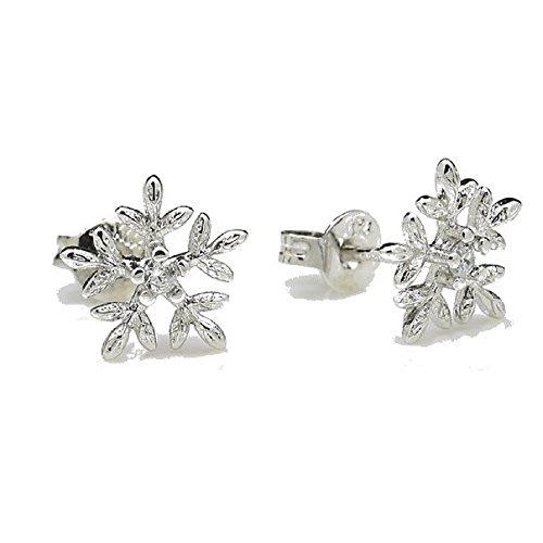 18-k-white-gold-gp-cute-snowflakes-stud-earrings-white-swarovski-crystals-new