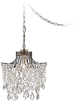 crystal plug in swag pendant ceiling pendant fixtures. Black Bedroom Furniture Sets. Home Design Ideas