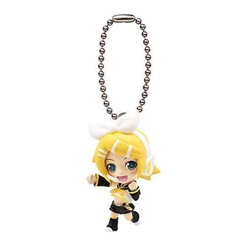 VOCALOID Hatsune Miku Mini figure mascot strap swing 02 Rin Kagamine - 1