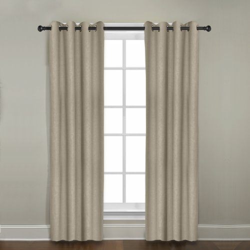 Veratex 100% Linen Window Grommet Panel Made In Th Usa, 108-Inch Khaki Veratex front-1042650