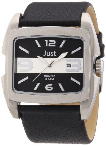 Just Watches 48-S3353-SL - Orologio da polso uomo, pelle, colore: nero
