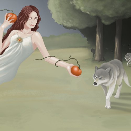 Original album cover of Call of the Wolf Peach by Pale White Moon