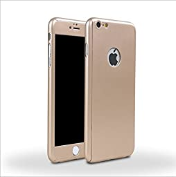 iPhone 6/6s 4.7 Inch Full Body Case-Superstart Gold Ultra Slim Front and Back PC Hard Cover + Tempered Glass Sreen Protector for iPhone 6/6s 4.7 Inch