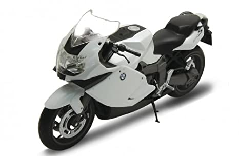 Welly BMW K1300S Motorcycle 1/10 Scale Diecast Model White by Welly
