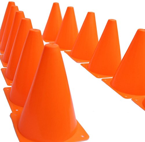 Novelty Place® [Multi-Purpose] Sport Training Traffic Cones Activity Cone for Kid and Adult - 7 Inch (Pack of 12) (Construction Cone Party compare prices)