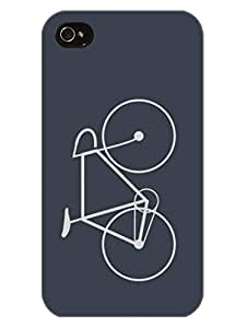 Bicycle - For Bicycle Rider - Hard Back Case Cover for Apple iPhone 4 - Superior Matte Finish - HD Printed Cases and Covers