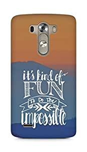 AMEZ its kind of fun to do the impossible Back Cover For LG G3