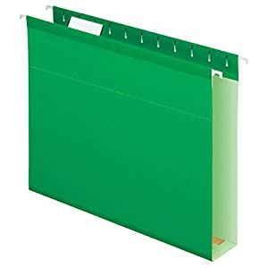 Pendaflex Extra Capacity Reinforced Hanging Folders, Letter Size, Bright Green, 25 per Box (4152x2BGR)