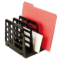 Universal - 2 Pack - Vertical Add-On Sorter Plastic 3 Compartments Black \