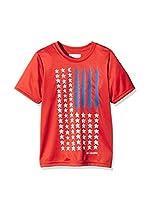 Columbia Camiseta Manga Corta Camp Americana Graphic (Tomate)