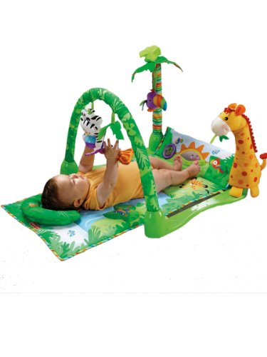 Fisher Price 1-2-3 Rainforest Musical Gym, Multi Color
