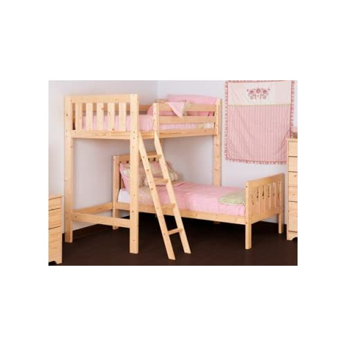 L SHAPED 3ft bunkbed - Wooden High sleeper loft bunk bed with single under bedLShaped Bunk Bed for kids - FAST...