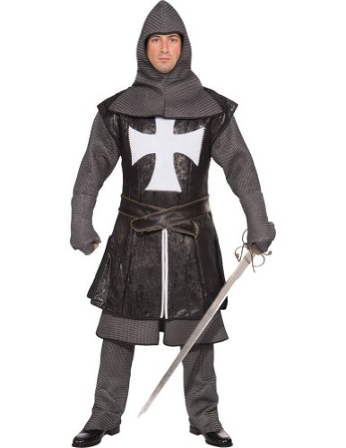 Adult-Costume Black Knight Med Adult Costume 42-44 Halloween Costume